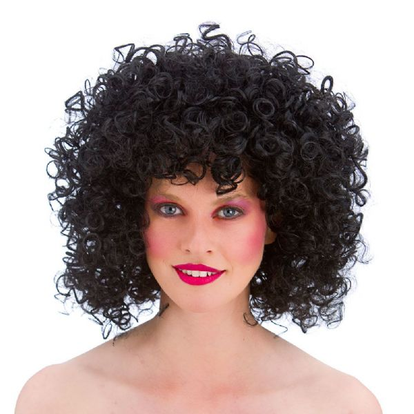 Adult 80's Disco Perm Wig for Afro Curly Fancy Dress Cosplay Outfit